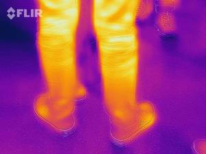Thermal image of a passerby