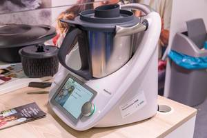Thermomix TM6 presented at Fibo Cologne - a kitchen appliance for chopping, frying, kneading, steaming, frying and slow cooking