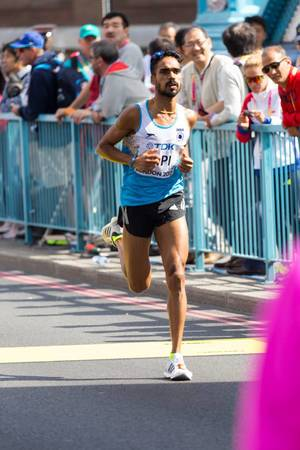 Thonakal Gopi (Marathon Finale) bei den  IAAF Leichtathletik-Weltmeisterschaften 2017 in London