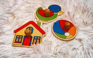 Three Wooden Kid Toys