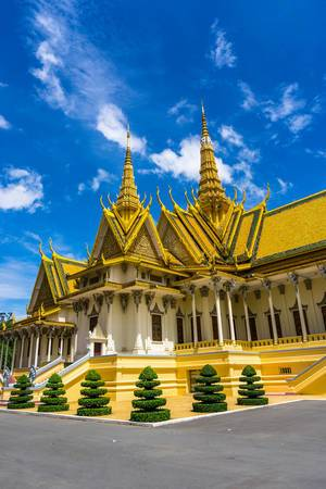 Throne Hall at Royal Palace Complex in Phnom Penh