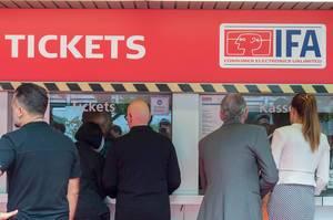 Ticketschalter auf der IFA Berlin 2018