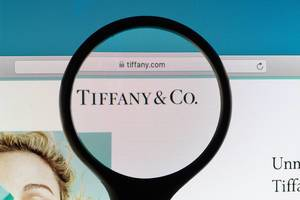 Tiffany & Co. logo under magnifying glass