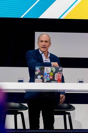 Tim Berners-Lee, Begründer des World Wide Web und Erfinder von HTML als Gast auf der Digital X