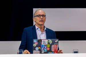 Tim Berners-Lee on stage of Digital X in Cologne