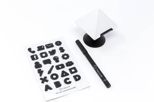 TIMEULAR - ZEI - Zeit Tracking Octagon in Weiß mit Labelstift und Sticker