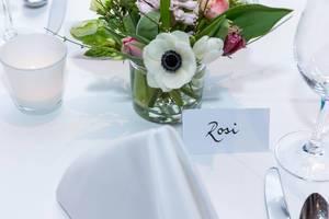 Tischkarte mit dem Namen Rosi