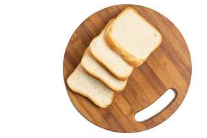 Toast bread on the wooden board