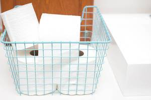 Toilet-Paper in a Basket