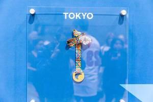 Tokyo Marathon 2019 medal mit colorful neck ribbon
