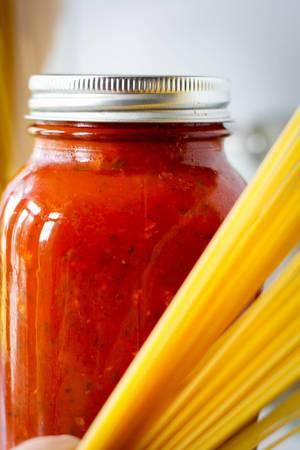 Tomatensauce mit Nudeln