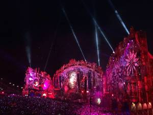 Tomorrowland 2014 Main Stage @ Night