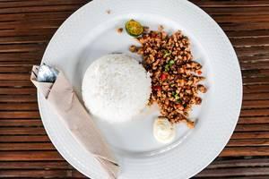 Top shot of a pork sisig dish (Flip 2019)