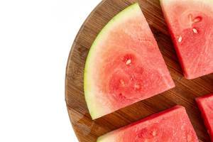 Top view above Sliced Watermelon