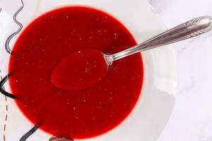 Top view of Beet Soup