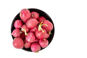 Top view of Healthy Fresh Red Radishes (Flip 2019)
