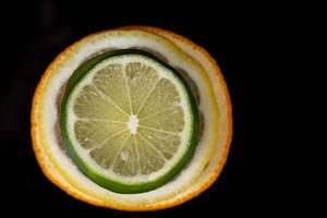 Top view of sliced Orange Lemon and Lime (Flip 2019)