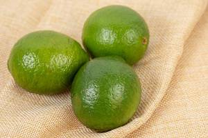 Top view on Fresh Green Limes (Flip 2019) (Flip 2019)