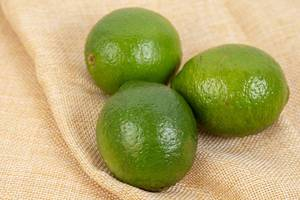 Top view on Fresh Green Limes
