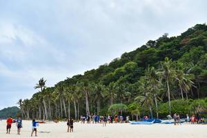Tourists enjoying at Puka Boracay Beach