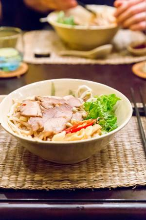 Traditional Hoi An Noodles with Pork Char-Siu (Cao lau)