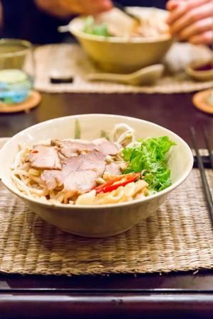 Traditional Hoi An Noodles with Pork Char-Siu (Cao lau)