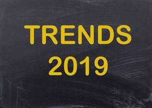 Trends 2019 on chalkboard