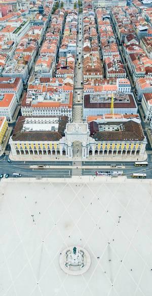 Triumphbogen Arco da Rua Augusta  in Lissabon