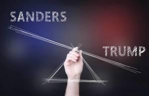 Trump outweighting Sanders concept