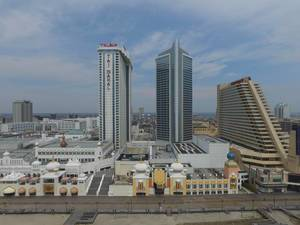 Trump Taj Mahal und Scores Hotels und Casinos in Atlantic City, USA