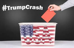 TrumpCrash presidental election concept