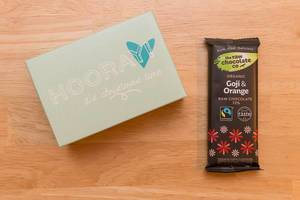 Tür 1: Goji & Orange Rohschokolade / Raw Chocolate