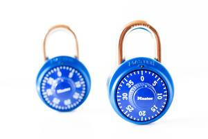 two blue padlock