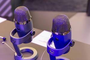 Two Blue Yeti Nano Premium USB microphones, Blue Sherpa App compatible, for skype calls, youtube and musicians