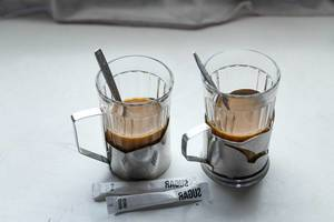 Two glasses of coffee in the train (Flip 2019)