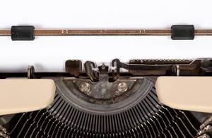 Typewriter blanko usco registration
