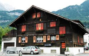 Typical Swiss home in Meiringen, Switzerland