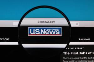 U.S. News logo under magnifying glass