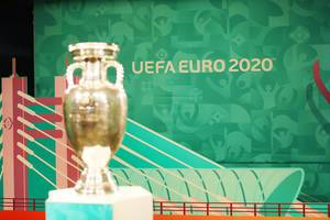 UEFA EURO 2020 Trophy at Bucharest