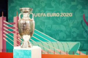 UEFA European Football Championship Trophy at Bucharest, Romania