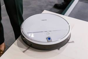 Ultra power robotic vacuum cleaner by eureka, with video and voice interaction option