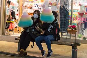 Unicorn Coloured TBD (Zuckerwatte) on Takashita Street