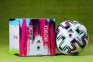 Uniforia ball and box, the official Euro 2020 ball