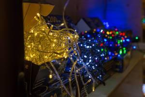 Unterschiedliche Lichterketten - IAW Köln 2018
