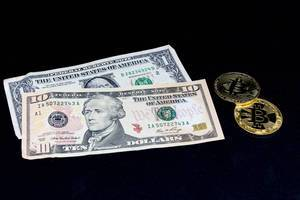 US-Dollar and Bitcoin