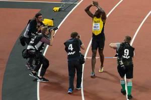 Usain Bolt (100 Meter Lauf Finale) bei den IAAF Leichtathletik-Weltmeisterschaften 2017 in London