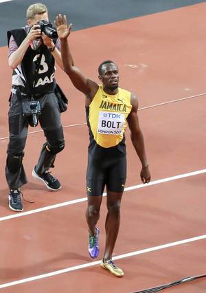 Usain Bolt after his last Race during the Worldchampionships 2017 in London