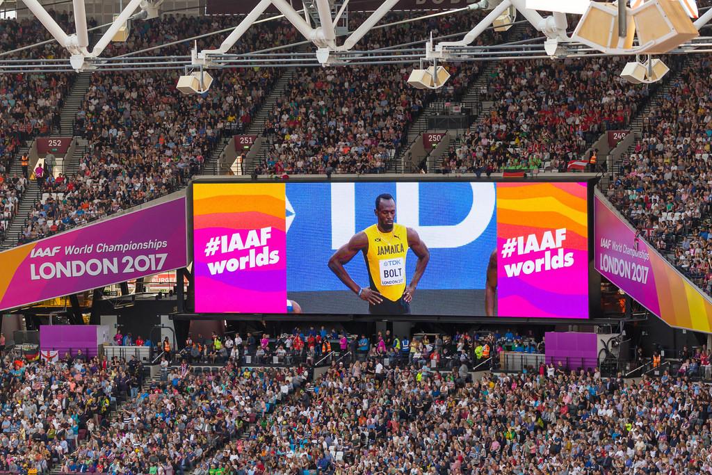 Usain Bolt bei der Leichtathletik-WM