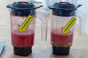 Vacuum blending vs general blending. Comparison
