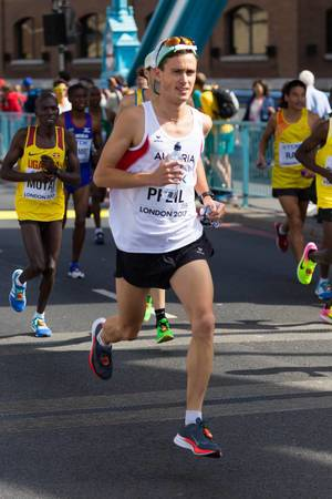 Valentin Pfeil und weitere Läufer (Marathon Finale) bei den  IAAF Leichtathletik-Weltmeisterschaften 2017 in London